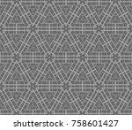 modern geometric seamless... | Shutterstock .eps vector #758601427