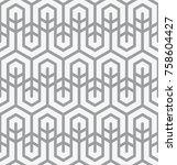 vector seamless pattern. modern ... | Shutterstock .eps vector #758604427