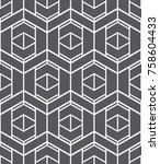 vector seamless pattern. modern ... | Shutterstock .eps vector #758604433
