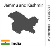 map of the indian city of jammu ...   Shutterstock .eps vector #758607787