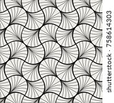 art deco seamless pattern.... | Shutterstock .eps vector #758614303