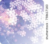 abstract winter background with ... | Shutterstock . vector #758617183