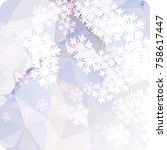 abstract winter background with ... | Shutterstock . vector #758617447