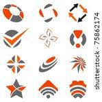 abstract design elements set   Shutterstock .eps vector #75862174