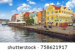 Small photo of Willemstad, Curacao - March, 2017 : A view from Queen Emma Bridge, Willemstad, Curacao, Netherlands. Editorial Photo.