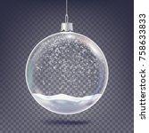 christmas ball vector. classic... | Shutterstock .eps vector #758633833