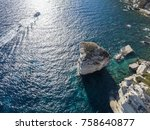 aerial view on white limestone...   Shutterstock . vector #758640877