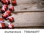 merry christmas. decoration for ... | Shutterstock . vector #758646697