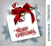 christmas decoration with... | Shutterstock .eps vector #758656033