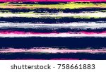 watercolor stripes in grunge... | Shutterstock .eps vector #758661883