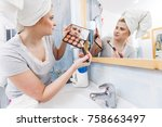 contouring face kit  visage and ...   Shutterstock . vector #758663497
