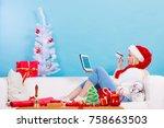 online shopping  buying... | Shutterstock . vector #758663503