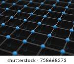 3d illustration. blue and... | Shutterstock . vector #758668273
