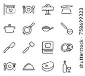 thin line icon set   shop... | Shutterstock .eps vector #758699323