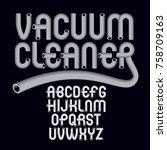 vector capital modern alphabet... | Shutterstock .eps vector #758709163
