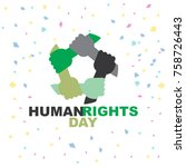 human right day logo template | Shutterstock .eps vector #758726443