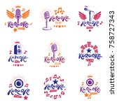 collection of vector design... | Shutterstock .eps vector #758727343