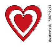 heart and love symbol icon... | Shutterstock .eps vector #758749063
