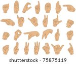 vector illustration of sign... | Shutterstock .eps vector #75875119