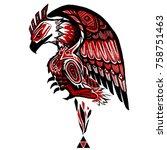 griphon fighter fantasy | Shutterstock . vector #758751463
