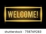 welcome neon light title... | Shutterstock .eps vector #758769283