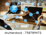 automation concept as an... | Shutterstock . vector #758789473