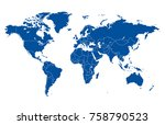 color world map vector. | Shutterstock .eps vector #758790523