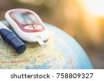 close up of glucose meter for... | Shutterstock . vector #758809327