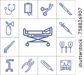 hospital tools or accessories... | Shutterstock .eps vector #758826907