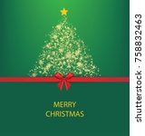 christmas tree. vector...   Shutterstock .eps vector #758832463