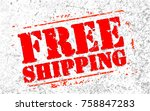 free shipping headline. trendy... | Shutterstock .eps vector #758847283