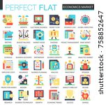 vector economics market complex ... | Shutterstock .eps vector #758852647