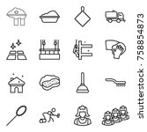 thin line icon set   factory... | Shutterstock .eps vector #758854873