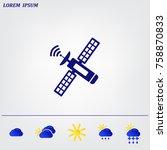satellite sign icon  vector...   Shutterstock .eps vector #758870833