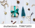 christmas  new year white...   Shutterstock . vector #758871853