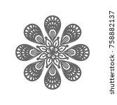 mandala sign illustration....   Shutterstock .eps vector #758882137