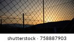 steel wire mesh fence on a...   Shutterstock . vector #758887903