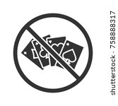 forbidden sign with playing...   Shutterstock .eps vector #758888317
