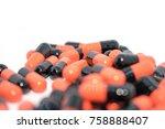 multicolored tablets. medical... | Shutterstock . vector #758888407