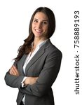 cute commercial business woman... | Shutterstock . vector #758889193