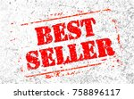 best seller headline. trendy... | Shutterstock .eps vector #758896117