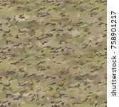 seamless khaki pattern | Shutterstock .eps vector #758901217