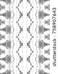 black and white mosaic pattern... | Shutterstock . vector #758907643