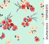 simple cute pattern in small... | Shutterstock .eps vector #758908393