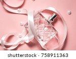 Bottle Of Modern Perfume On...