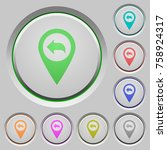 previous gps map location color ... | Shutterstock .eps vector #758924317
