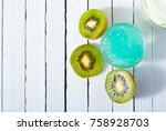 anti aging revitalizing gel and ... | Shutterstock . vector #758928703