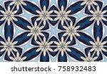 seamless circular vector... | Shutterstock .eps vector #758932483