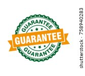 guarantee sign label tag stamp   Shutterstock .eps vector #758940283