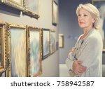 glad  positive smiling female... | Shutterstock . vector #758942587